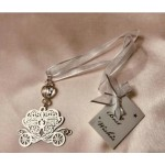 Bridal Charm Silver Carriage (Min Order Qty 3)
