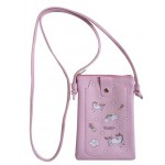 Bag 18X14 cm with Strap Pink Unicorn (Min Order Qty 2)