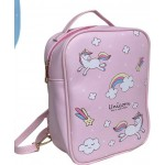 Backpack Pink Unicorn 24X17cm (Min Order Qty 2)
