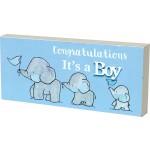 """Plaque """"Congratulations It's a Boy"""" (Min Order Qty 2)"""