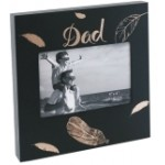 "DAD Photo Frame  6""x4"" Black with Gold Leaf"