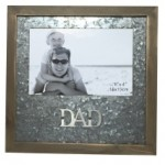 "DAD Photo Frame  6""x4"" Metal Matte (Min Order Qty 2)"