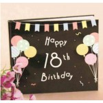 18th Birthday Guest Book Black (Min Order Qty 1)