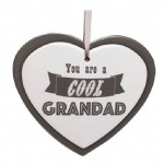 Cool Grandad Ceramic Heart Plaque (Min Order Qty 2)