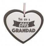 Cool Grandad Ceramic Heart Plaque