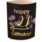 LED LANTERN HAPPY 21ST BIRTHDAY