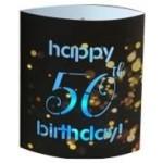 LED Lantern Happy 50th Birthday (Min Order Qty2)