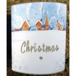 Christmas Paper Lantern with LED's - Christmas Snow
