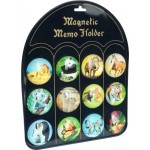 Beautiful Animal Images Round Magnets, Mixed Design, 5cm(D), 12 pcs/set (Min Order Qty 1)