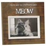 Photo Frame 6 x 4 Cat Meow Wood (Min Order Qty 2)