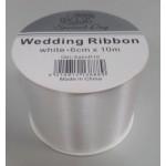 Wedding Ribbon Roll White 6cm x 10m Box of 12