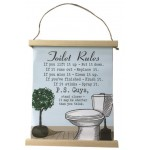 Toilet Rules Canvas (Min Order Qty 2)