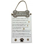 Dog Rules Wooden Plaque (Min Order Qty 1)