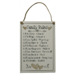 Family Rules Plaque #2 (Min Order Qty 1)