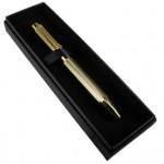 Metallic Mesh Pen Gift Boxed - Gold (Min Order Qty 1)