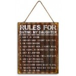 Rules for Dating my Daughter 30x40cm Metal Garage Sign (Min Order Qty 3)