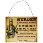 Ned Kelly 20x25cm Metal Sign (Min Order Qty 3)