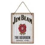Jim Beam White 30x40cm Metal Sign (Min Order Qty 3)