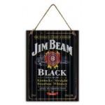 Jim Beam Black 30x40cm Metal Sign (Min Order Qty 3)