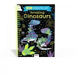***Coming September 2021*** Scratch Art Fun Amazing Dinosaurs (Neon) (Min Ord Qty 2)