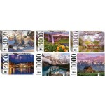 1000 Piece Jigsaw Puzzle Assortment #15 Box of 12 (Min Order Qty 1)***Limited to 2 packs per customer***
