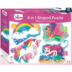 Junior Jigsaw Shaped 4-in-1: Magical Creatures (Min Ord Qty 2)