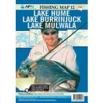 AFN Fishing Map 12 Lake Hume, Lake Burrinjuck & Lake Mulwala (Min Order Qty 1)