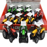 Die Cast Tractors Pull Pack  Display of 12 Assorted (Min Order Qty 1 Display)