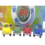Die Cast Matte Little Beetle  Display of 12 Assorted (Min Order Qty 1)
