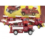 Die Cast Classic Fire Truck  Display of 12 Assorted (Min Order Qty 1)