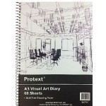 PROTEXT Visual Art Diary A4 60 Sheets