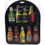 Beer Bottle Shaped Magnets Pack of 18 with Metal Stand (Min Order Qty 1)