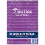 WRITER Reinforced Loose Leaf Refills Pack 100 (Min Order Qty 2)