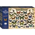 1000-piece Vintage Puzzle: Butterflies (Min Order Qty 1)