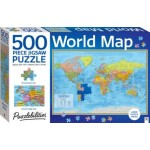 Hinkler Puzzlebilities World Map  500 Piece Jigsaw Puzzle (Min Order Qty 2)