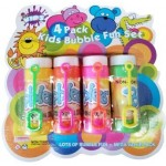 Bubble Solution with Wand 4 Pack  Hangsell (Min Order Qty 2)
