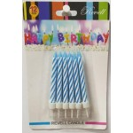 Revell Birthday Candles 12 Pack Glitter Blue (Min Order Qty 3)