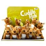 Cuddle Buddies Kangaroo DIsplay of 12 (Min Order Qty 1)