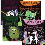 Scratch Art Fun Mini's Assorted Pack of 12 (Min Order Qty 1)