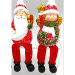 Angel & Santa Shelf Sitter (Order in Multiples of 12)