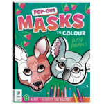 Pop Out Masks to Colour: Aussie Animals (Min Ord Qty 2)