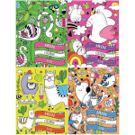 Colouring Books Neon Animals Assorted - Pack of 12  (Min Ord Qty Pack of 12)