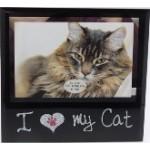 Photo Frame I Love my Cat 18x17cm (Order in Multiples of 4)