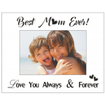 """""""Best Mum Ever"""" - Mirrored Glass Photo Frame (Min Order Qty: Multiples of 4)"""