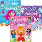 My Sparkly Sticker & Activity Books Assorted Pack of 12 (Min Order Qty 1)