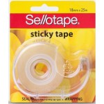 Sellotape Stick Tape 18mm x 25m Dispenser (Min Order Qty 8)