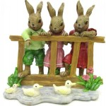 Ceramic 15cm Rabbit & Pond (Min Order Qty 1 )