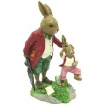 Ceramic 20cm Rabbits Dad & Son (Min Order Qty 1 )