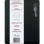 UPWARD 2020 A5 DAY TO PAGE SUPERIOR DIARY (BLACK) (Available August)