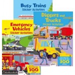 Vehicles Activity and Sticker Books (Min Order Qty 12)